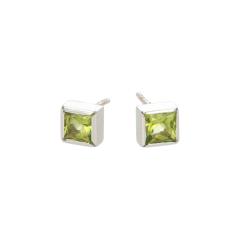 Gioia | 18carat White gold Earstuds | Peridot