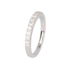 14krt witgouden ring met diamant briljant slijpsel