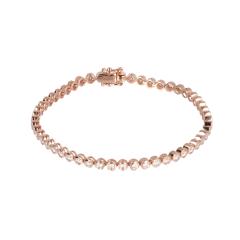 14 krt roségouden tennis armband met 52 diamanten
