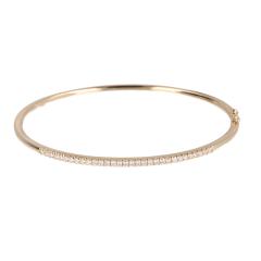 14 krt geelgouden bangle armband met 31 diamanten