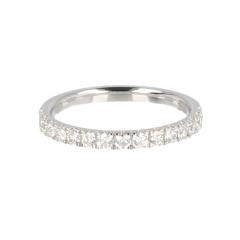 14krt witgouden ring half alliance met 15 diamanten