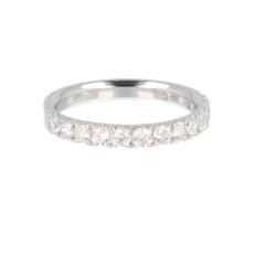 14krt witgouden ring half alliance met 13 diamanten