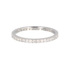 14krt witgouden alliance ring met 40 diamanten