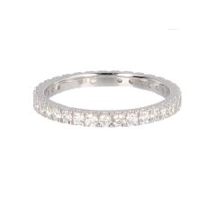 14krt witgouden alliance ring met 34 diamanten