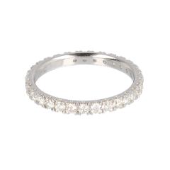 14krt witgouden alliance ring met 30 diamanten