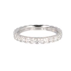 14krt witgouden alliance ring met 25 diamanten
