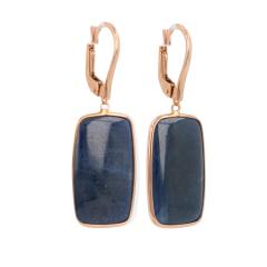 Gioia | Earrings Pink Gold | Blue Sapphire