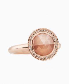 Bron | Sushi Moonstone Champagne Diamond | 10 mm