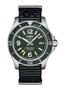 BREITLING SUPEROCEAN AUTOMATIC OUTERKNOWN GREEN A17367A11L1W1