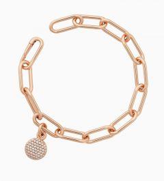 Bron | Stardust Bracelet Pink Gold | White diamond 0.50ct