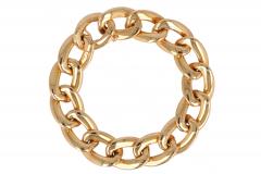 Gouden Gourmette armband
