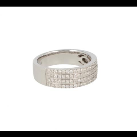 Be | Ring White Gold 14 Carat | Diamonds 0,46ct