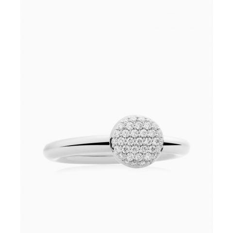 BRON | Stardust White gold | White Diamond 0.27ct