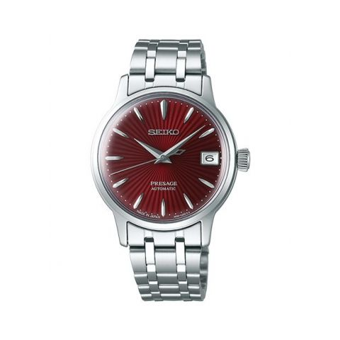 """Seiko Presage """"Cocktail Time"""" Red   33.8MM"""